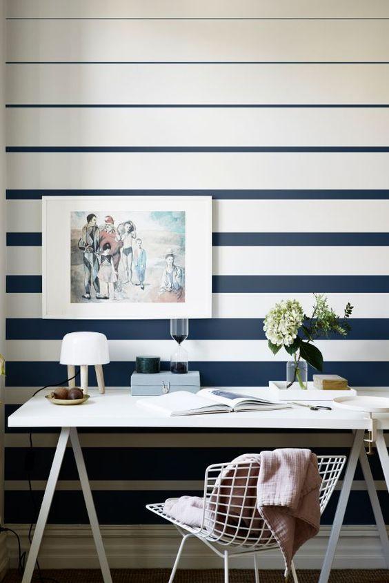 pintar paredes a rayas
